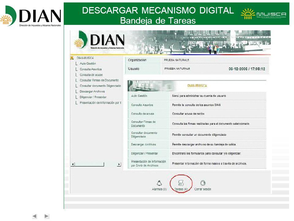 DESCARGAR MECANISMO DIGITAL Bandeja de Tareas