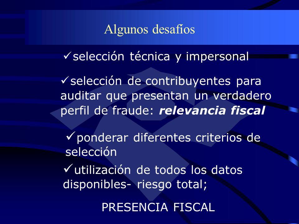 Algunos desafíos selección de contribuyentes para auditar que presentan un verdadero perfil de fraude: relevancia fiscal selección técnica y impersona