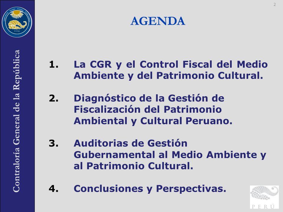 Contraloría General de la República 1.La CGR y el Control Fiscal del Medio Ambiente y del Patrimonio Cultural. 2.Diagnóstico de la Gestión de Fiscaliz
