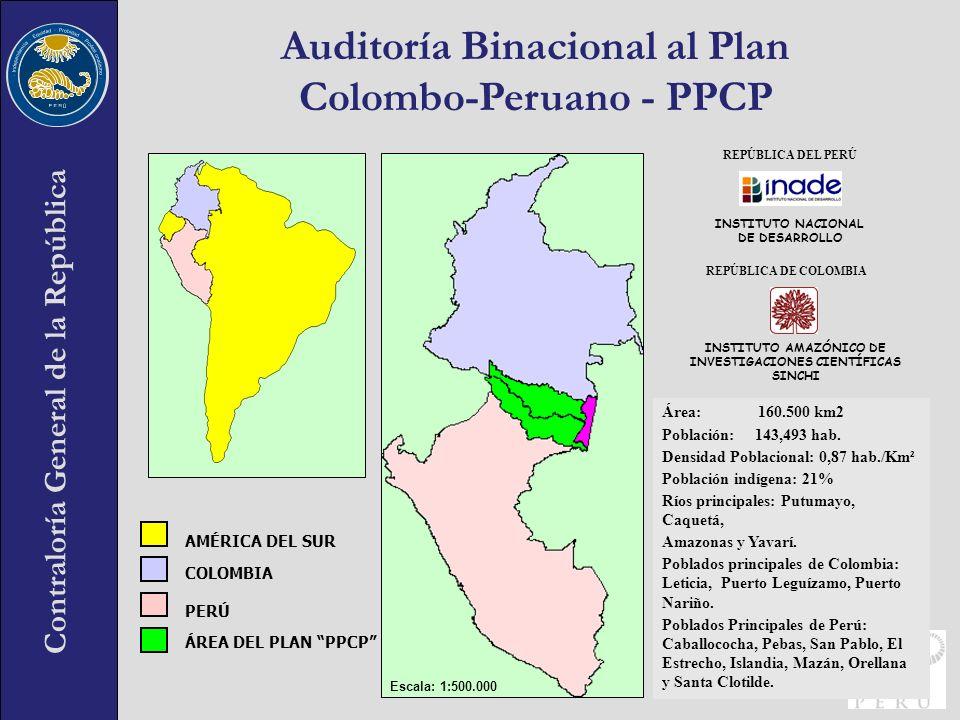 Contraloría General de la República ÁREA DEL PLAN PPCP PERÚ COLOMBIA AMÉRICA DEL SUR INSTITUTO AMAZÓNICO DE INVESTIGACIONES CIENTÍFICAS SINCHI REPÚBLI