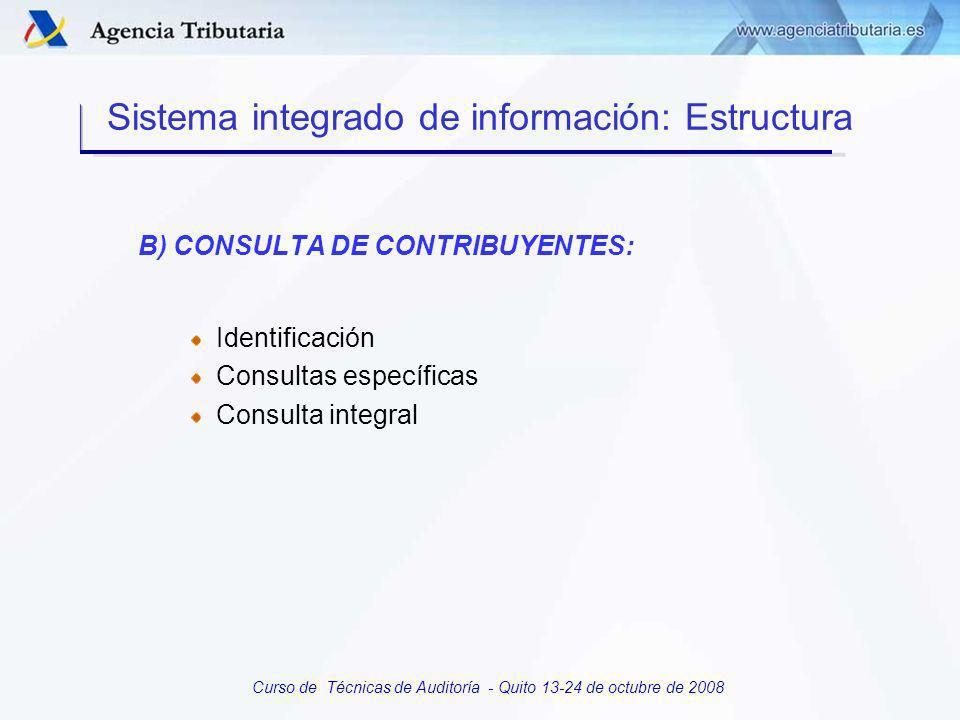 Curso de Técnicas de Auditoría - Quito 13-24 de octubre de 2008 TIPOS DE INFORMACION Información declarada por el contribuyente.