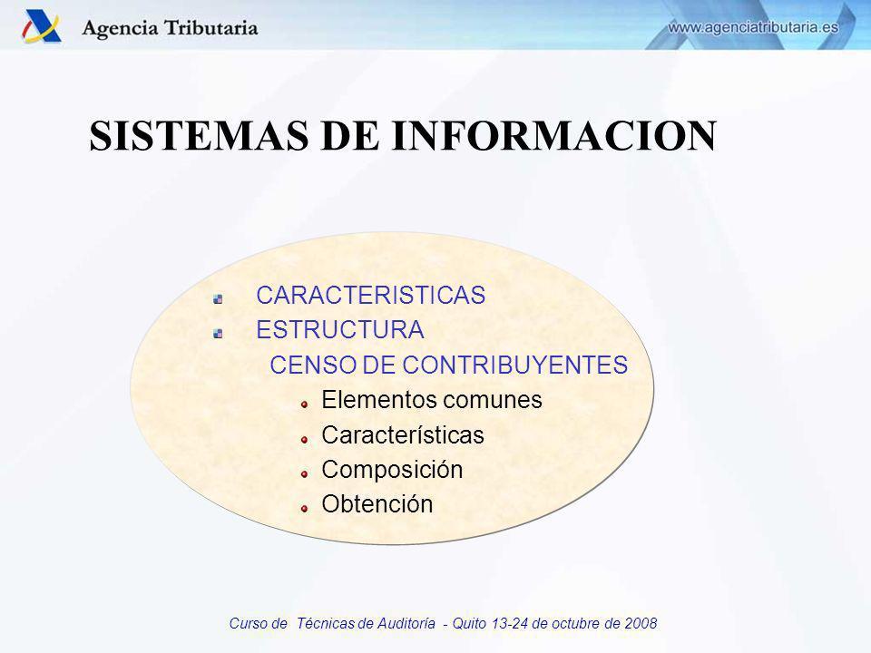 Curso de Técnicas de Auditoría - Quito 13-24 de octubre de 2008 SISTEMAS DE INFORMACION Es un Sistema Integrado de los diferentes procedimientos gestores en un Sistema de Información Unico