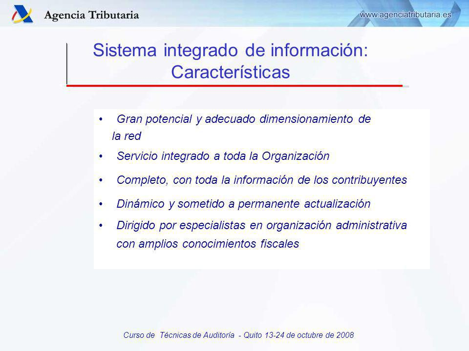 Curso de Técnicas de Auditoría - Quito 13-24 de octubre de 2008 SISTEMAS DE INFORMACION CARACTERISTICAS ESTRUCTURA CENSO DE CONTRIBUYENTES Elementos comunes Características Composición Obtención
