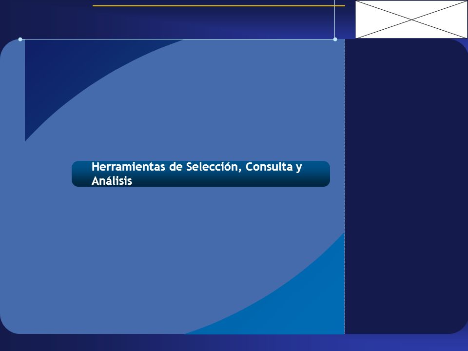 Herramientas de Selección, Consulta y Análisis