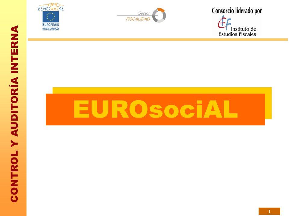 CONTROL Y AUDITORÍA INTERNA 1 EUROsociAL