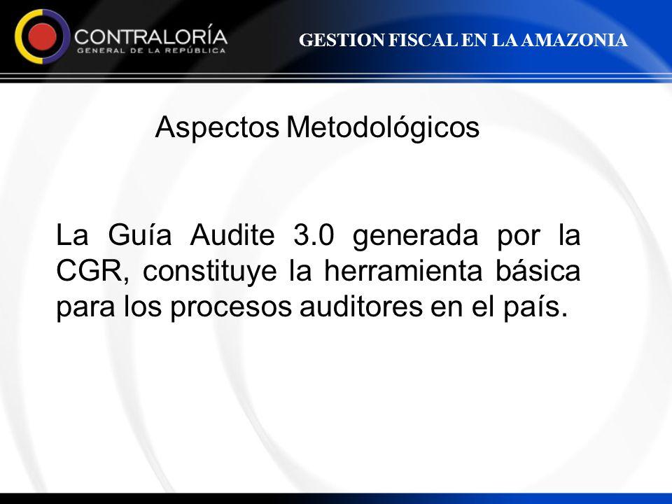 Aspectos Metodológicos La Guía Audite 3.0 generada por la CGR, constituye la herramienta básica para los procesos auditores en el país. GESTION FISCAL