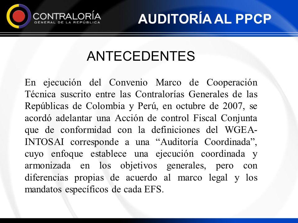 ANTECEDENTES En ejecución del Convenio Marco de Cooperación Técnica suscrito entre las Contralorías Generales de las Repúblicas de Colombia y Perú, en