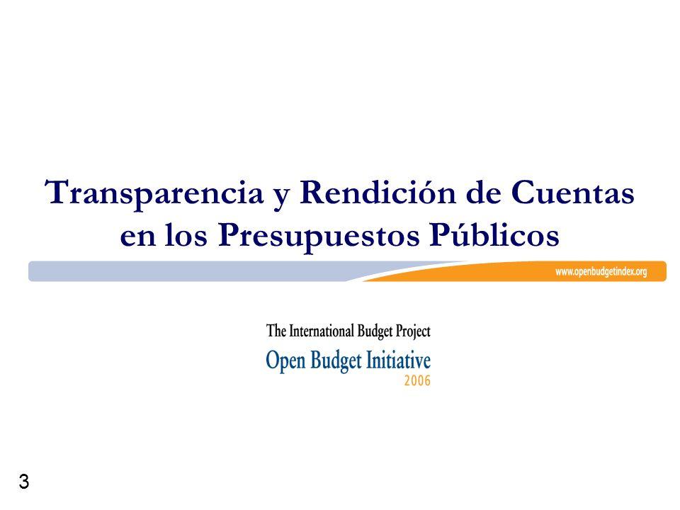 3 Transparencia y Rendición de Cuentas en los Presupuestos Públicos