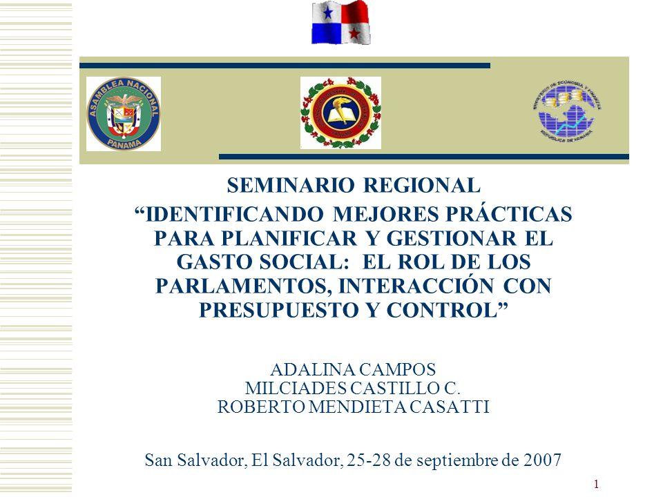 1 ADALINA CAMPOS MILCIADES CASTILLO C. ROBERTO MENDIETA CASATTI San Salvador, El Salvador, 25-28 de septiembre de 2007 SEMINARIO REGIONAL IDENTIFICAND