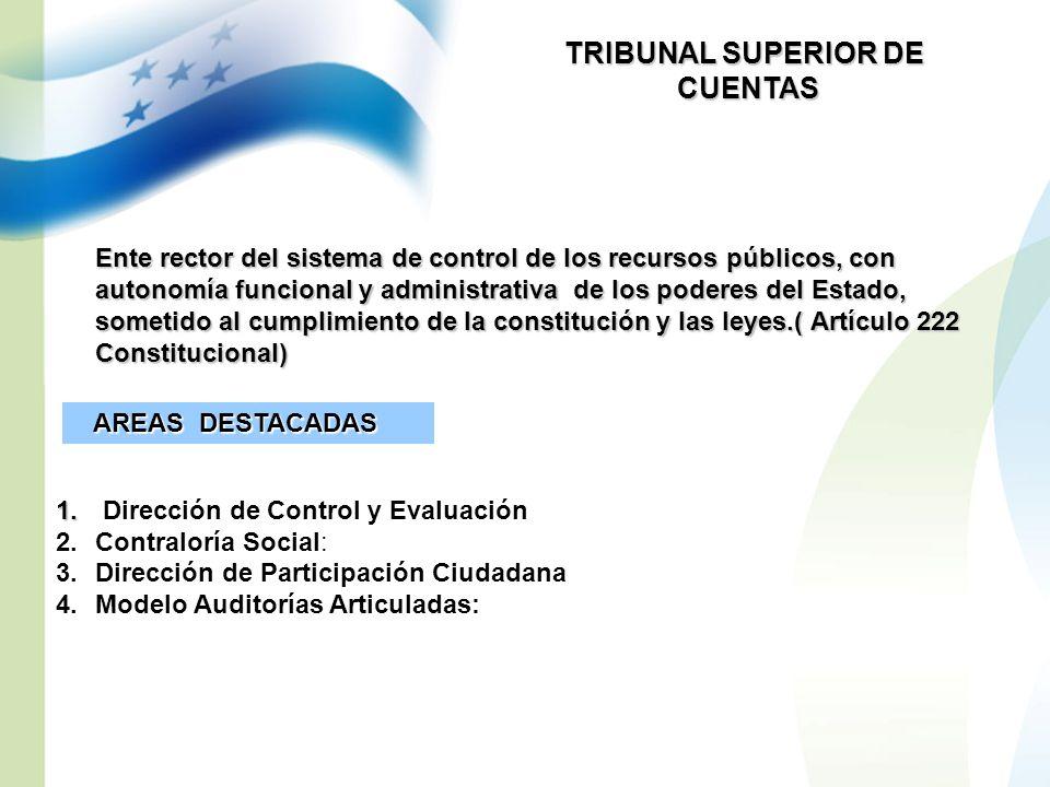 TRIBUNAL SUPERIOR DE CUENTAS CUENTAS Ente rector del sistema de control de los recursos públicos, con autonomía funcional y administrativa de los pode