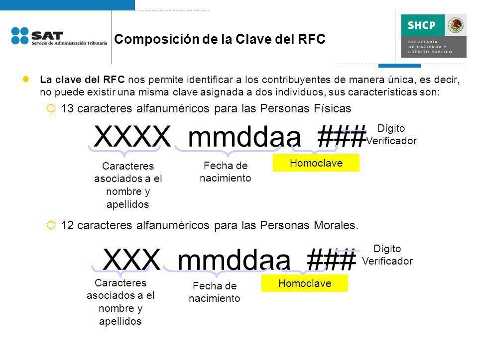 La clave del RFC nos permite identificar a los contribuyentes de manera única, es decir, no puede existir una misma clave asignada a dos individuos, s