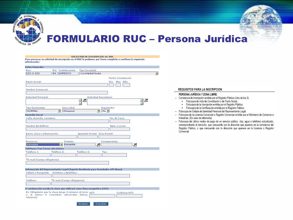 VIAS O CANALES DE ENTRADA Las fuentes de información del Módulo Registro Único de Contribuyentes son: Internet Papel Agentes Residentes RUC INTERNET AGENTES RESIDENTES PERSONAL PAPEL