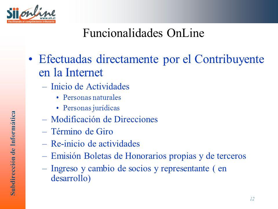 Subdirección de Informática 13