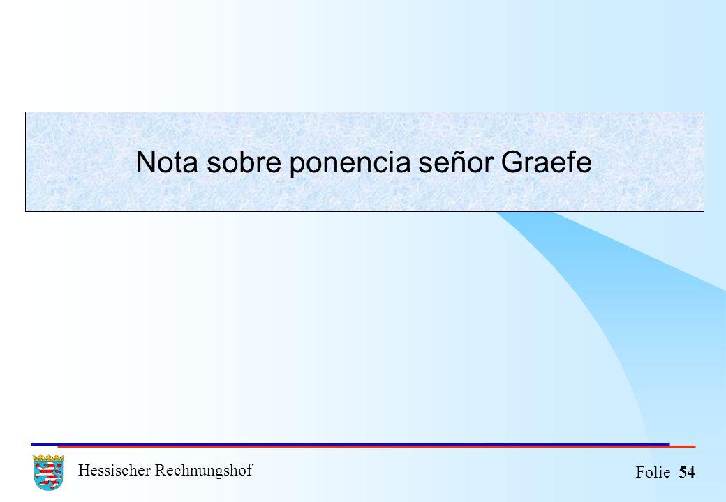 Hessischer Rechnungshof Folie 54 Nota sobre ponencia señor Graefe