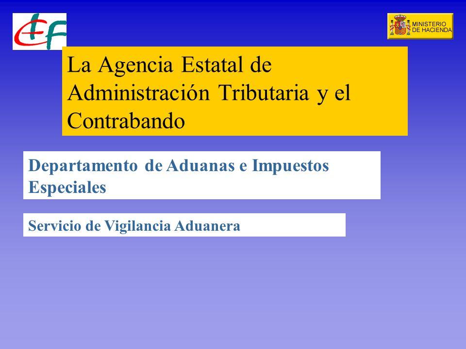 La Agencia Estatal de Administración Tributaria y el Contrabando Departamento de Aduanas e Impuestos Especiales Servicio de Vigilancia Aduanera