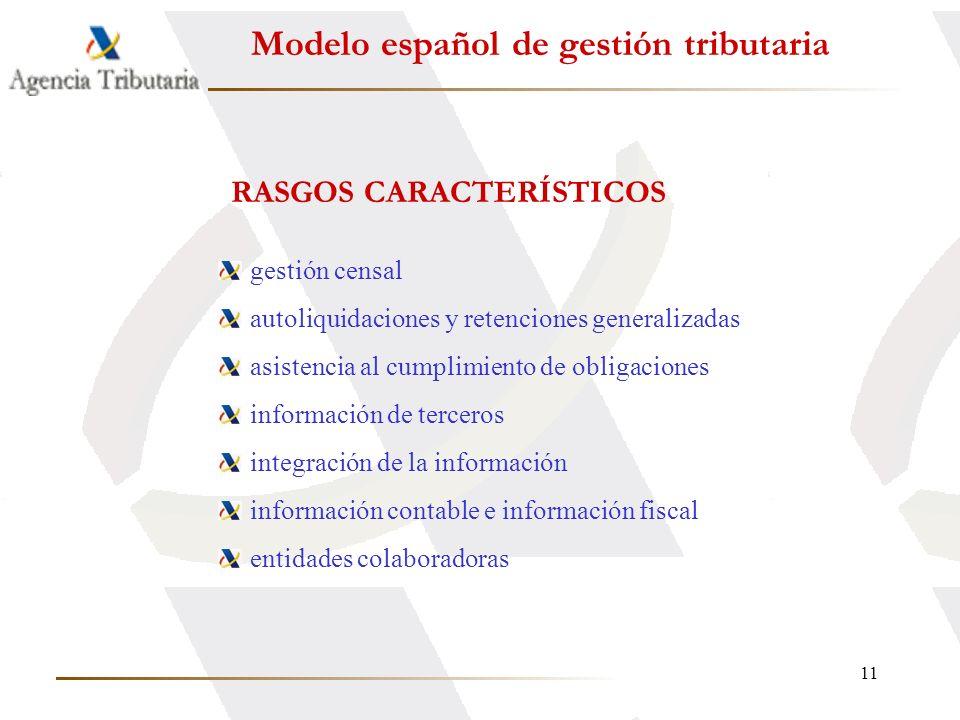 11 Modelo español de gestión tributaria gestión censal autoliquidaciones y retenciones generalizadas asistencia al cumplimiento de obligaciones inform