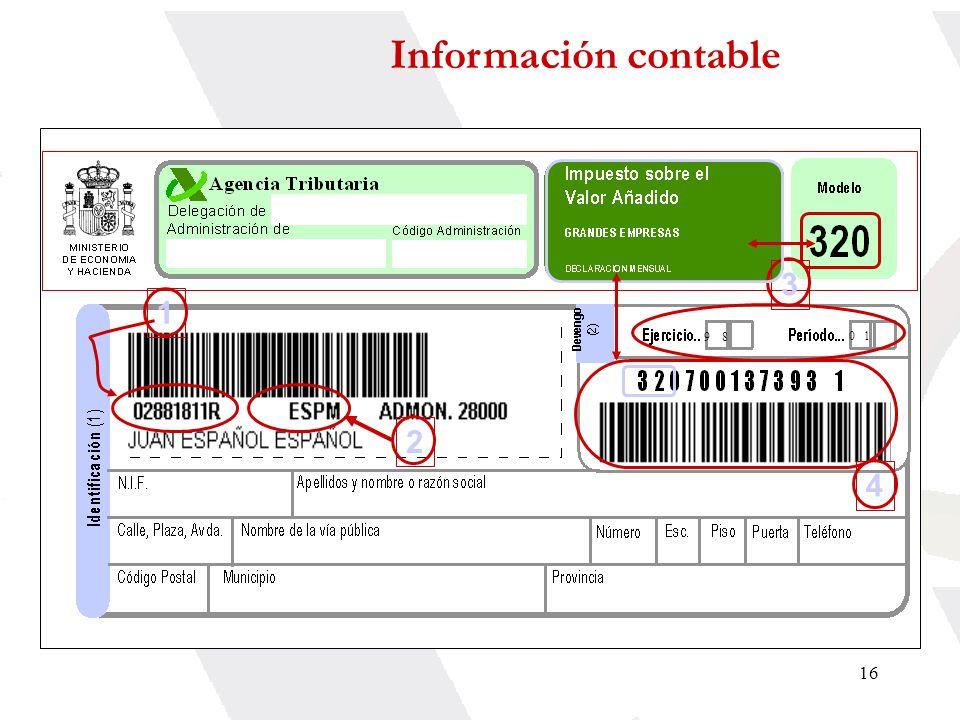 16 1 23 9 8 0 1 4 Información contable