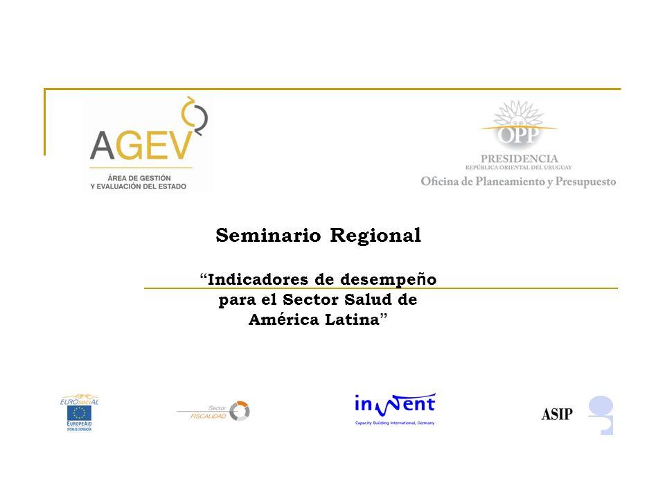 Seminario Regional Indicadores de desempe ñ o para el Sector Salud de Am é rica Latina