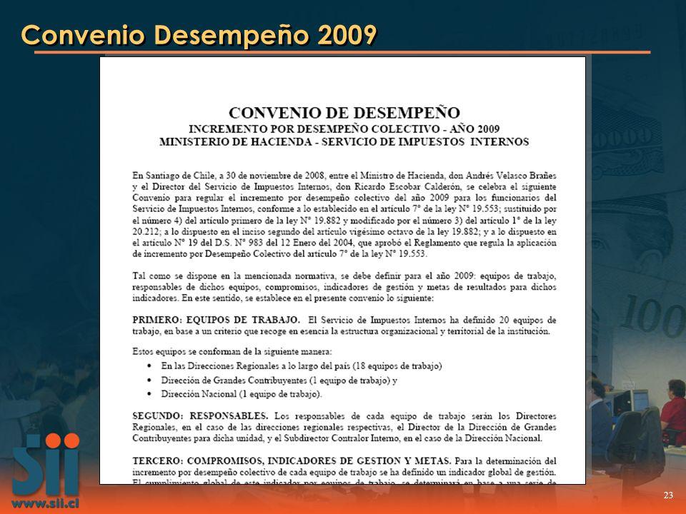 23 Convenio Desempeño 2009