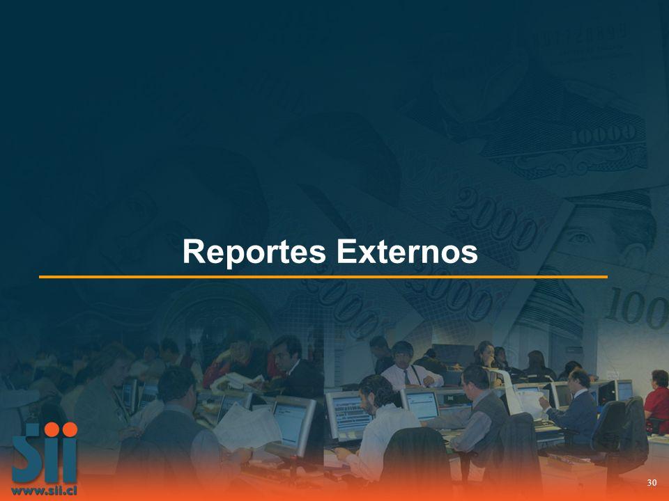 30 Reportes Externos