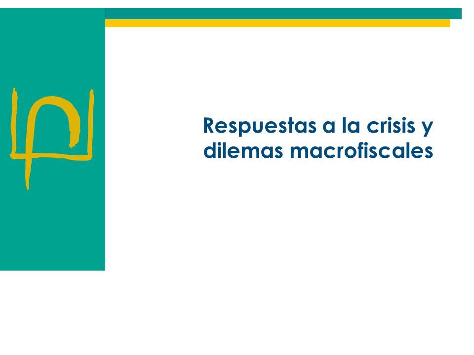 Respuestas a la crisis y dilemas macrofiscales