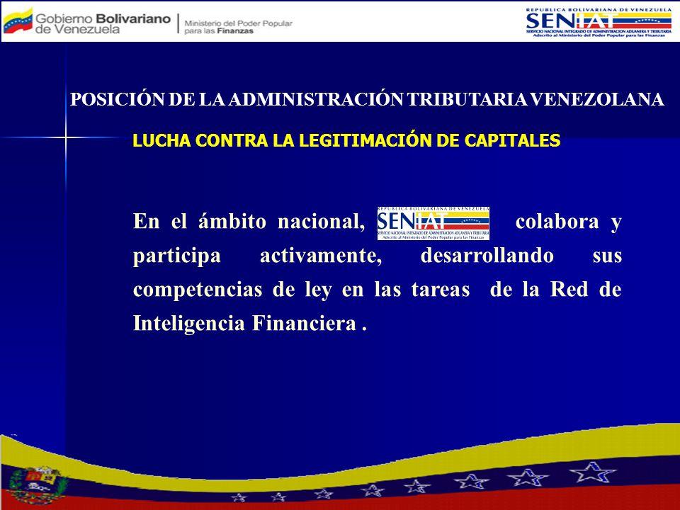 En el ámbito nacional, colabora y participa activamente, desarrollando sus competencias de ley en las tareas de la Red de Inteligencia Financiera. POS