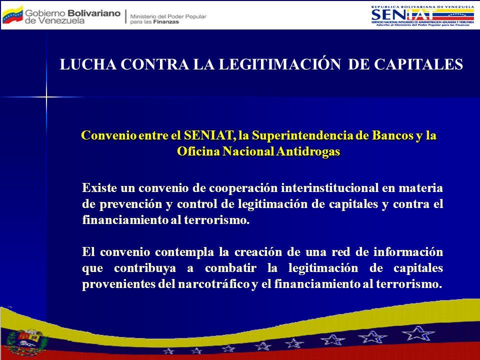 Existe un convenio de cooperación interinstitucional en materia de prevención y control de legitimación de capitales y contra el financiamiento al ter
