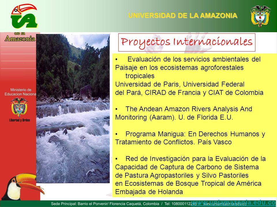 UNIVERSIDAD DE LA AMAZONIA Evaluación de los servicios ambientales del Paisaje en los ecosistemas agroforestales tropicales Universidad de Paris, Univ
