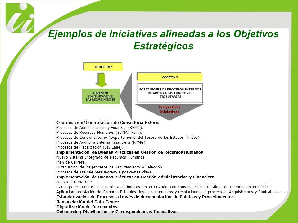 Coordinación/Contratación de Consultoría Externa Procesos de Administración y Finanzas (KPMG). Procesos de Recursos Humanos (SUNAT Perú). Procesos de