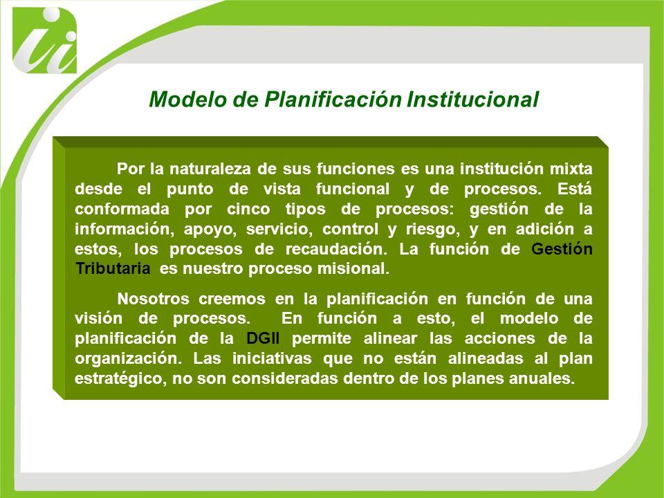 Por la naturaleza de sus funciones es una institución mixta desde el punto de vista funcional y de procesos. Está conformada por cinco tipos de proces
