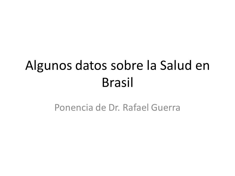 Algunos datos sobre la Salud en Brasil Ponencia de Dr. Rafael Guerra