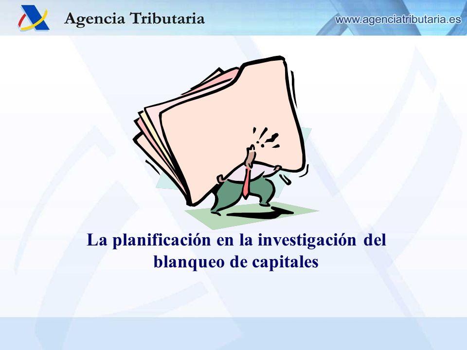 La planificación en la investigación del blanqueo de capitales