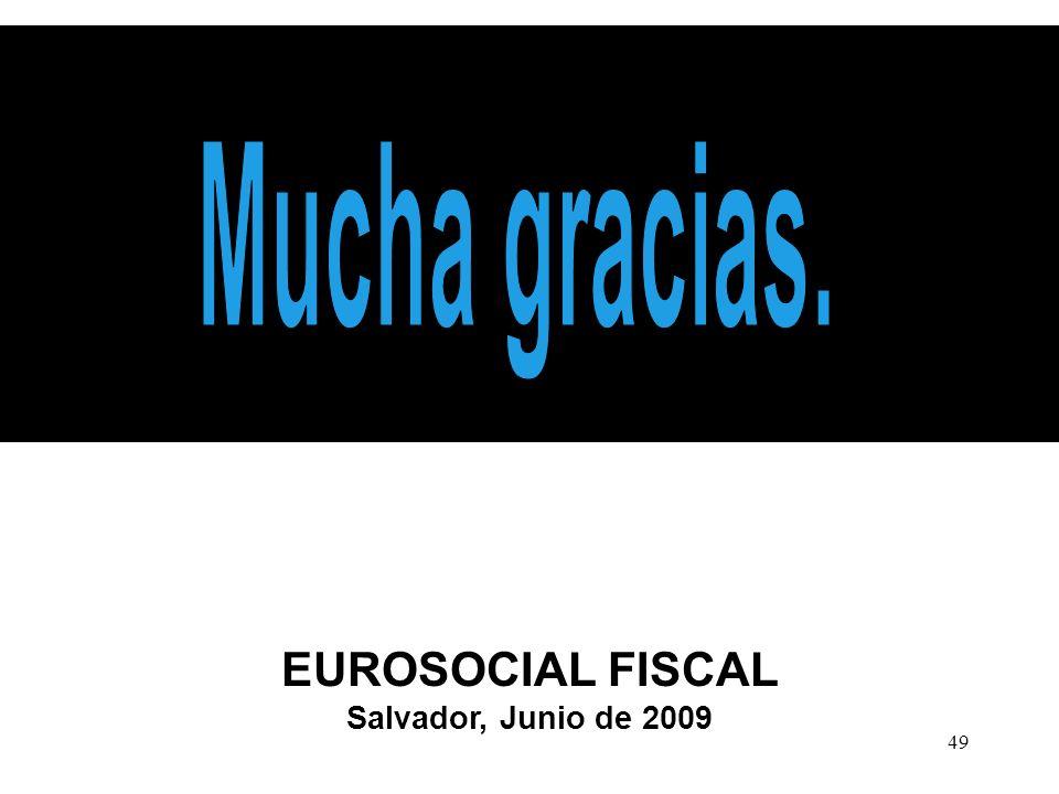 49 EUROSOCIAL FISCAL Salvador, Junio de 2009