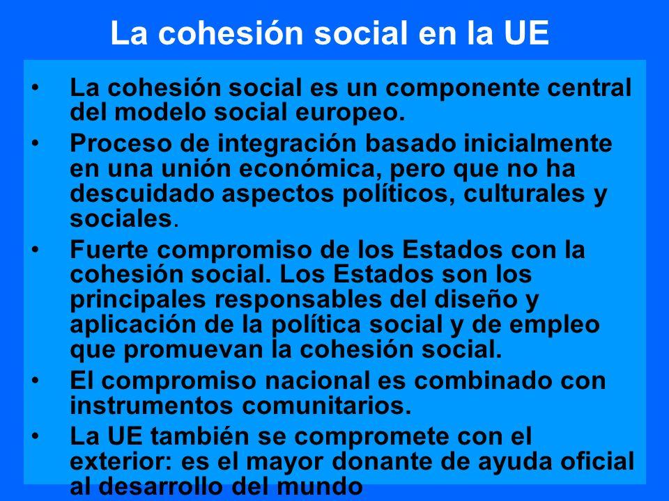 Brechas y desafíos del modelo de cohesión social de la UE Importantes diferencias en las condiciones de vida y en aspectos culturales de los nuevos miembros y de los nuevos candidatos.