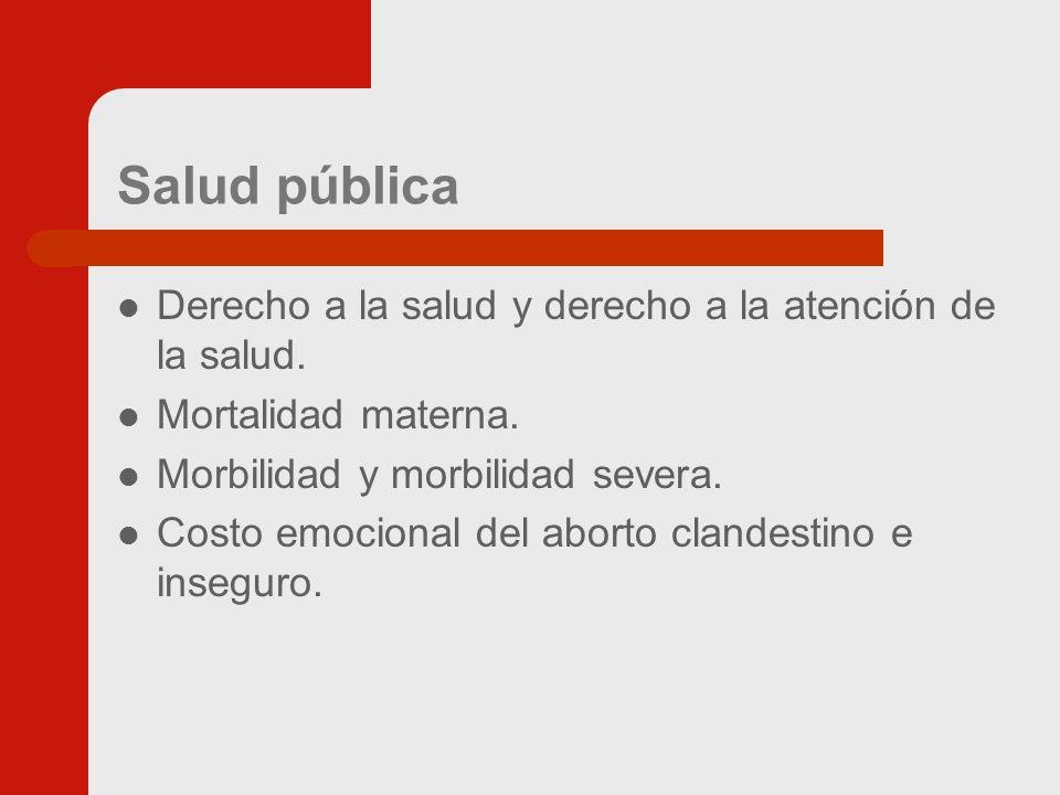 Salud pública Derecho a la salud y derecho a la atención de la salud.