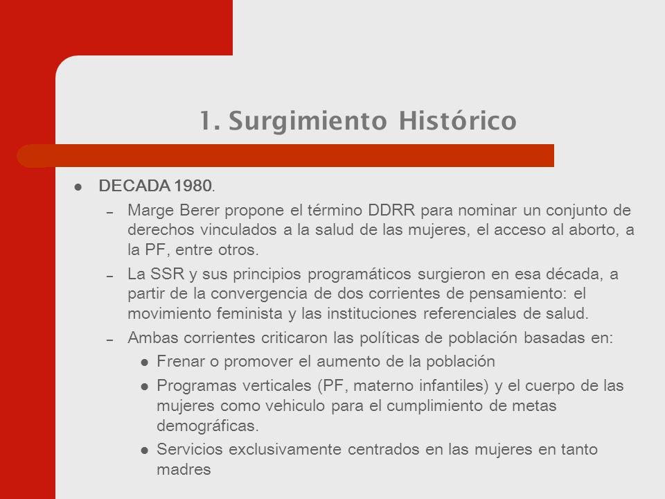1. Surgimiento Histórico DECADA 1980.