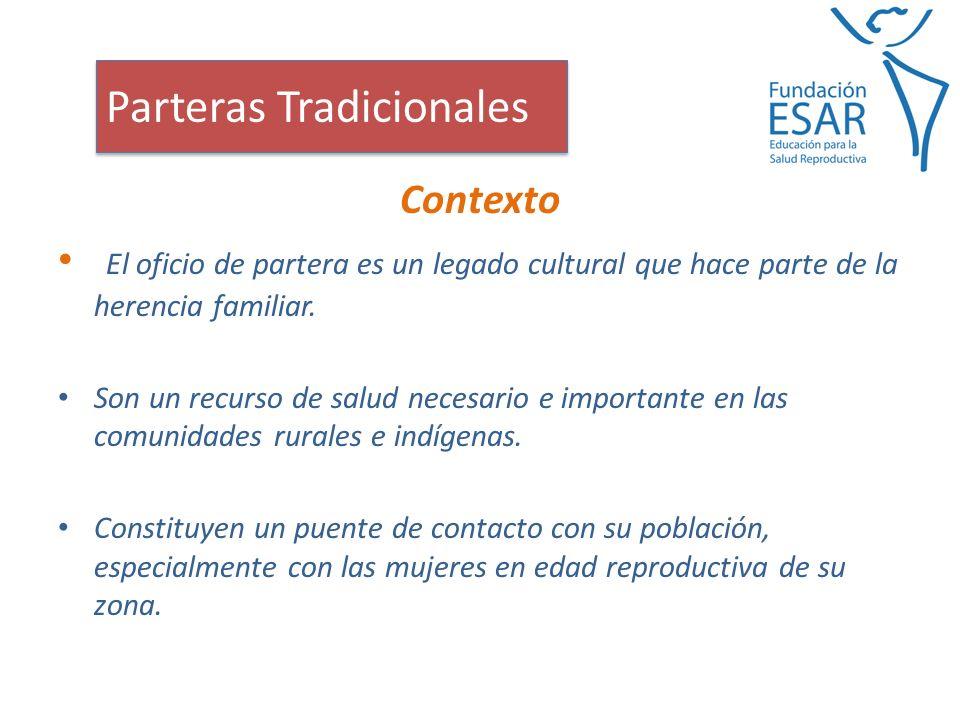 Contexto El oficio de partera es un legado cultural que hace parte de la herencia familiar.