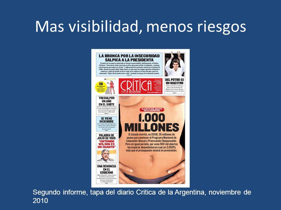 Mas visibilidad, menos riesgos Segundo informe, tapa del diario Critica de la Argentina, noviembre de 2010