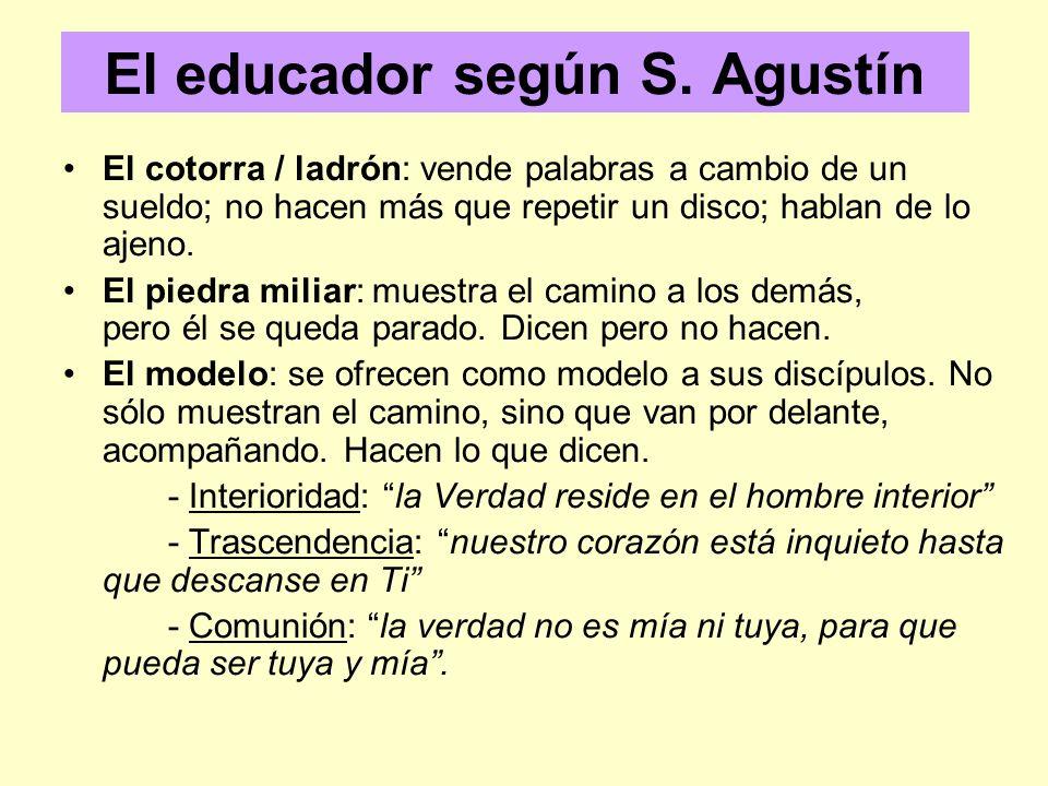 El educador según S.