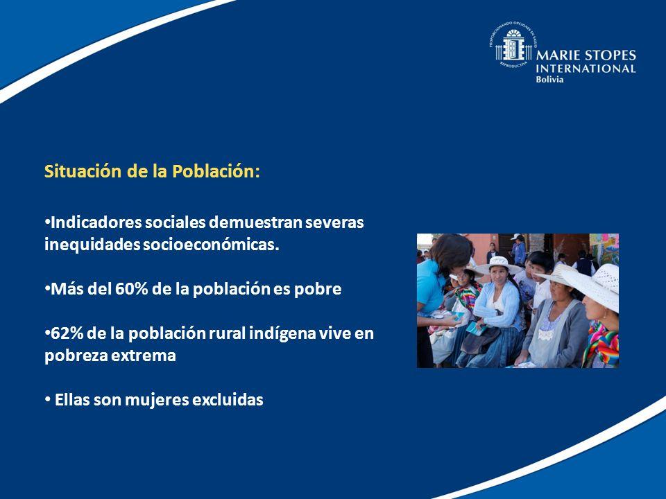 Servicios de MSI Bolivia: Trabaja con Centros Fijos establecidos en 5 Departamentos de Bolivia 6 Unidades Móviles que se desplazan a más de 95 Municipios rurales de Bolivia Red de atención Comunitaria