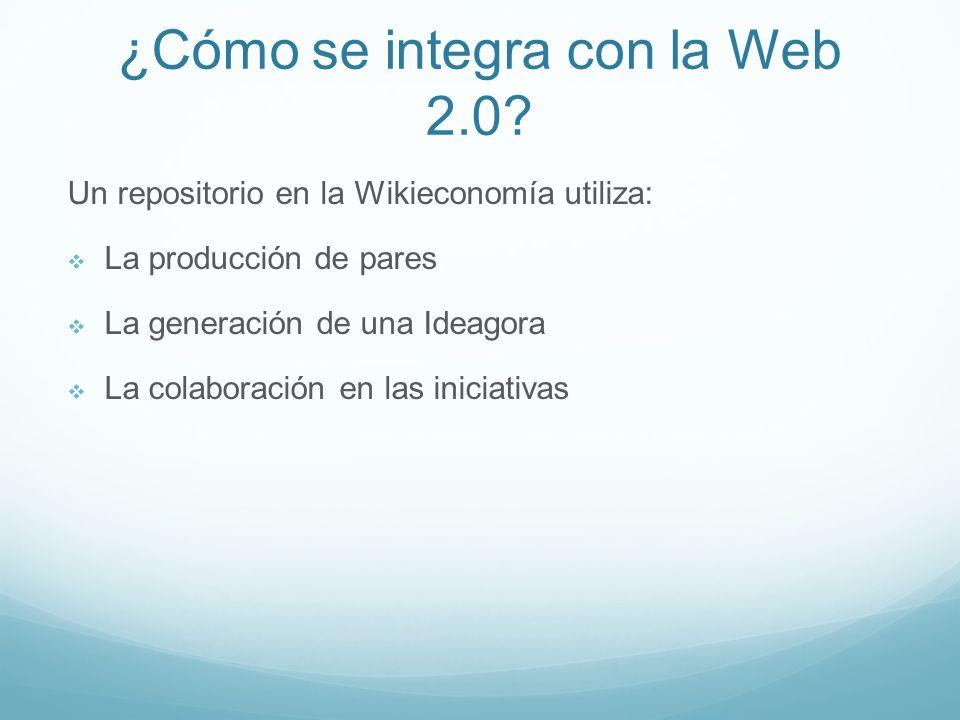 ¿Cómo se integra con la Web 2.0.