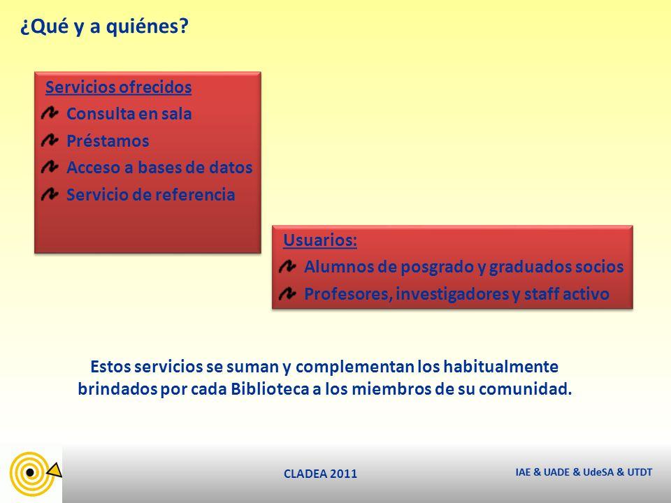 CLADEA 2011 ¿Qué y a quiénes.