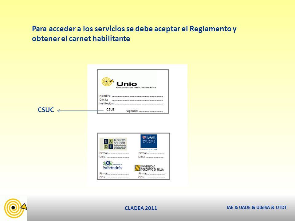 CLADEA 2011 ¿Cuándo.