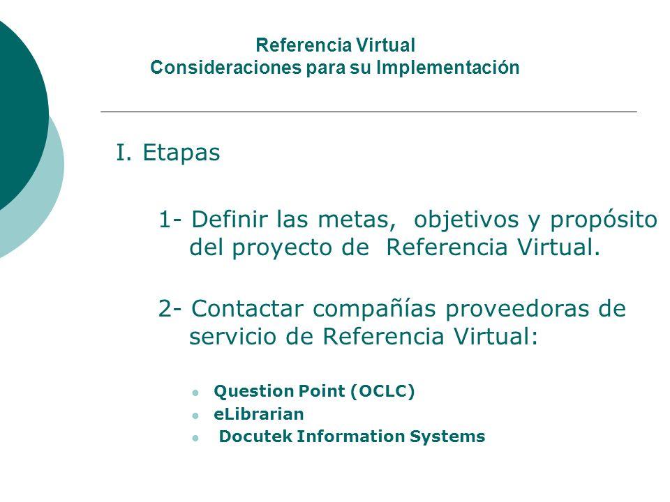 Referencia Virtual Consideraciones para su Implementación I.