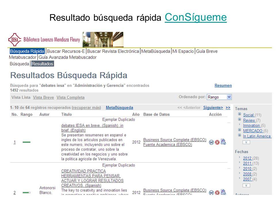 Selección… MetaLib Los representantes de ExLibris nos informaron acerca de sus productos: Metabuscador Gestor de enlaces