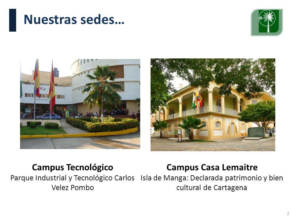 Visita Pares Académicos. 10, 11 y 12 de junio de 2009. Nuestras sedes… Campus Casa Lemaitre Isla de Manga: Declarada patrimonio y bien cultural de Car