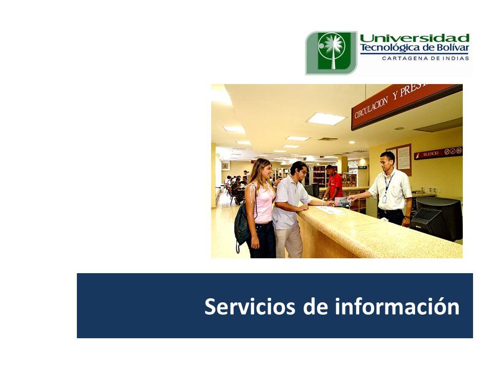Visita Pares Académicos. 10, 11 y 12 de junio de 2009. Servicios de información