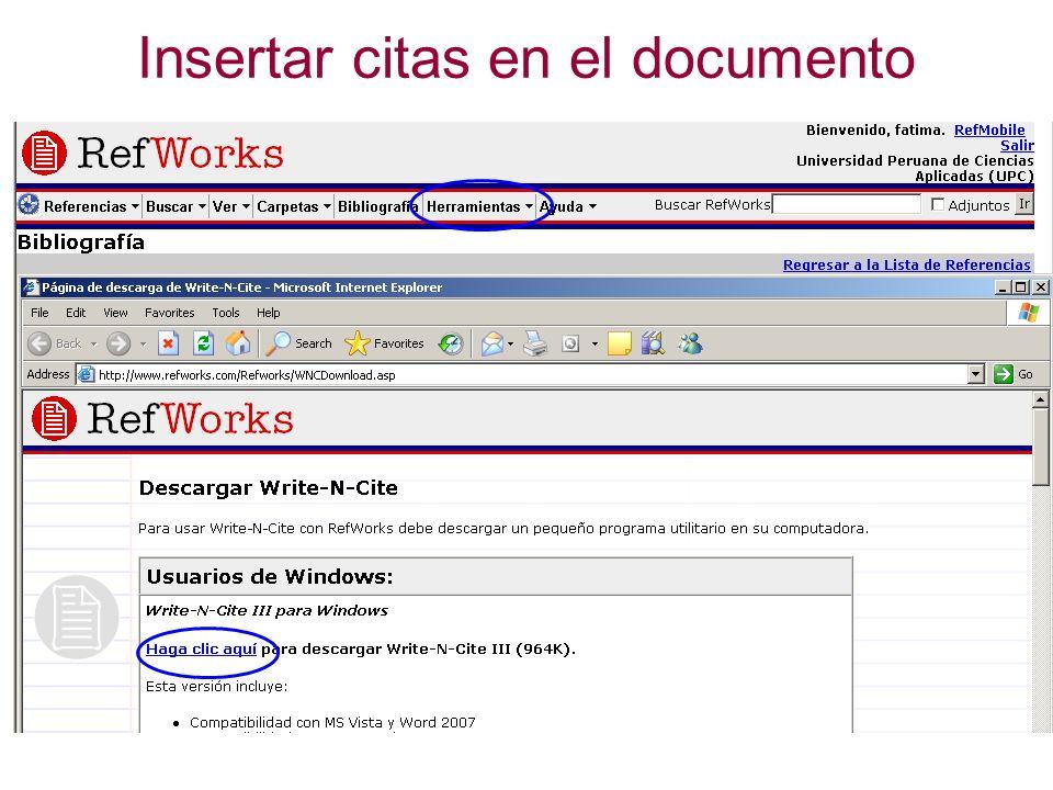 Insertar citas en el documento