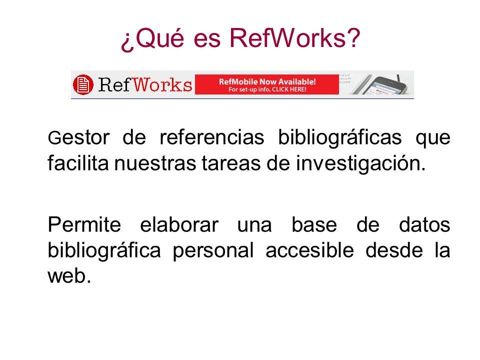 ¿Cómo se accede a RefWorks.