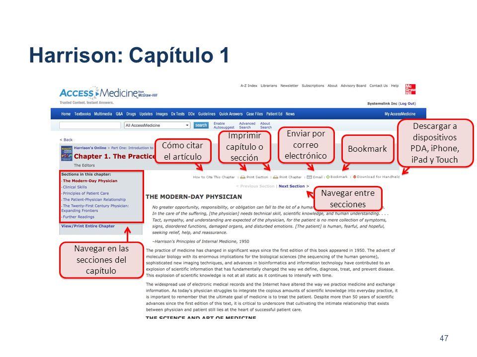 47 Harrison: Capítulo 1 Navegar en las secciones del capítulo Cómo citar el artículo Navegar entre secciones Imprimir capítulo o sección Enviar por co
